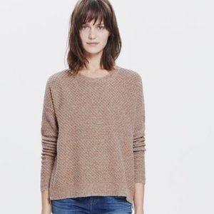 Madewell  Landmark Textured Side Zip Sweater